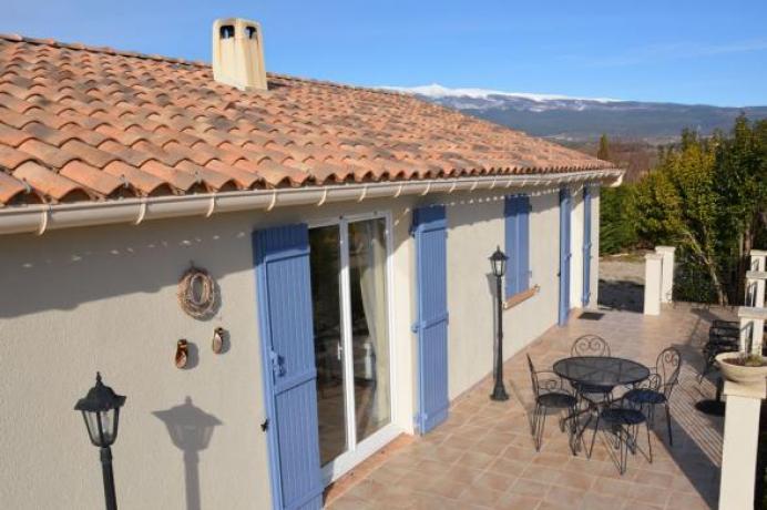 maison de vacances location piscine et vue panoramique sur le Mont Ventoux, région Vaucluse, Provence