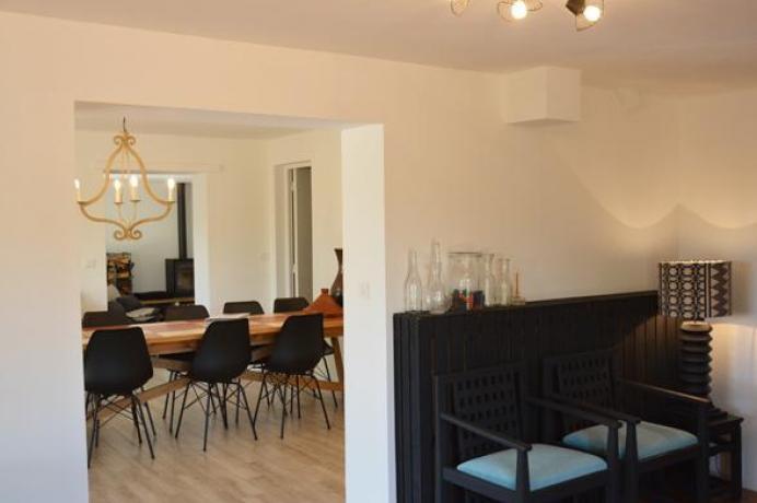gîte moderne pour 12 personnes avec belle vue sur le Mont Ventoux au calme à louer dans le Vaucluse