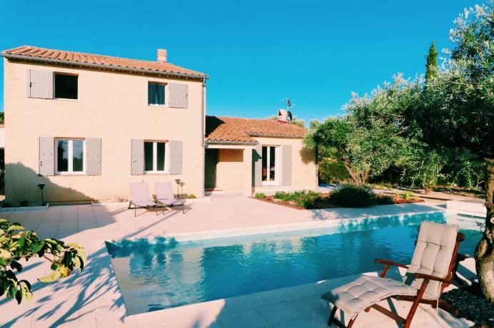location gîte en provence, vue sur le Mont Ventoux, 8 personnes, piscine privée