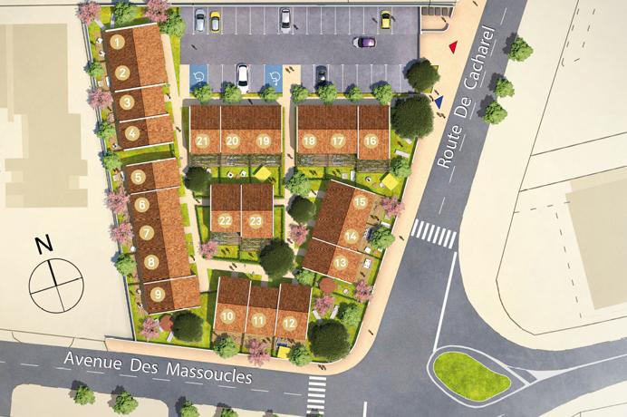 aankoop nieuwbouwproject aan de Middelllandse zee Camargue op wandelafstand van het strand en het centrum van Saintes-Maries-De-La-Mer