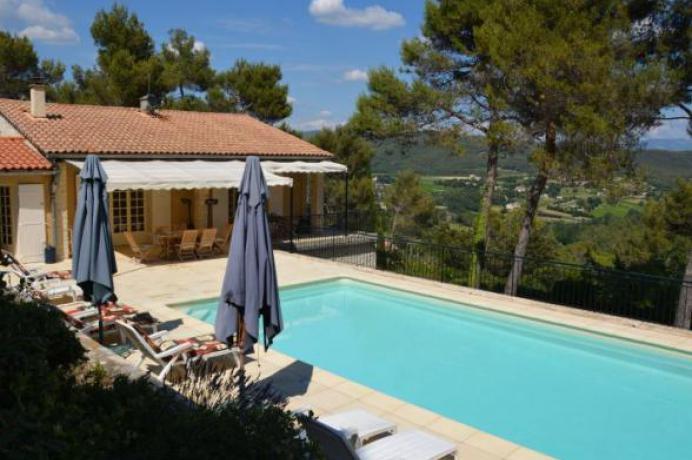 luxe villa huren in de Provence met zicht op de Mont Ventoux