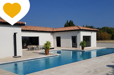 location gîte pour 8 personnes avec piscine chauffée, climatisation, Aubignan, Provence, Mont Ventoux