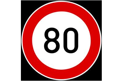 limite de vitesse 80km/h en France